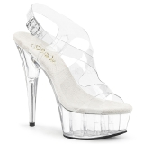 Transparent 15 cm Pleaser DELIGHT-630 Platform High Heels