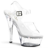 Transparent 16 cm Pleaser KISS-208LS High Heels Platform