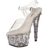 Transparent 18 cm ADORE-708MR Platform High Heels Shoes