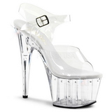 Transparent 18 cm Pleaser ADORE-708LS High Heels Platform
