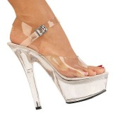 Transparent 18 cm Pleaser KISS-208 Platform High Heels Shoes