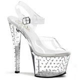 Transparent 18 cm Pleaser STARDUST-708 High Heels Platform