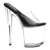 Transparent 20 cm SOL-801-O Platform Mules Shoes