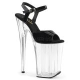 Transparent 23 cm INFINITY-909 High Heels Platform