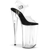 Transparent 25,5 cm BEYOND-0082 extrem platform high heels shoes