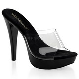 Transparent Black 14 cm COCKTAIL-501 Mules Platform