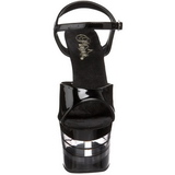 Transparent Black 18 cm SKY-309LN Platform High Heels Shoes