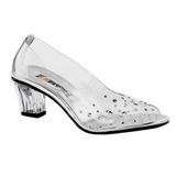Transparent Crystal 5 cm CRYSTAL-100 High Heeled Evening Pumps Shoes