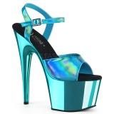 Turquoise 18 cm ADORE-709HGCH Hologram hoge hakken schoenen pleaser