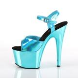 Turquoise 18 cm ADORE-709HGCH Hologram plateau schoenen dames met hak