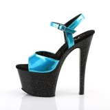 Turquoise 18 cm SKY-309HG Hologram plateau schoenen dames met hak