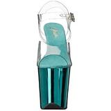 Turquoise 20 cm FLAMINGO-808 Chroom Plateau Hoge Hakken