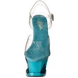 Turquoise Transparant 18 cm MOON-708DMCH Plateau Hoge Hakken