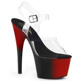 Tweekleurig 18 cm ADORE-708BR plateau schoenen met hakken