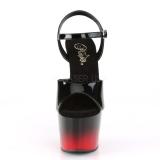 Tweekleurig 18 cm ADORE-709BR-H plateau schoenen met hakken