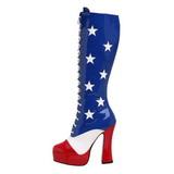 USA Patroon 13 cm ELECTRA-2030 Dames Rijglaarzen Hoge Hakken
