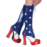 USA Pattern 13 cm ELECTRA-2030 High Heeled Womens Boots for Men