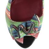 Veelkleurig 13 cm LOLITA-12 pumps schoenen open teen