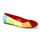 Veelkleurig glitter STAR-18G dames ballerinas schoenen