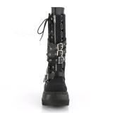 Vegan 11,5 cm SHAKER-71 demonia laarzen met sleehak