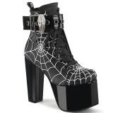 Vegan 14 cm TORMENT-51 demonia alternatief boots met plateau zwart