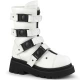 Vegan 6,5 cm RENEGADE-55 demonia alternatief boots met plateau wit