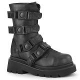 Vegan 6,5 cm RENEGADE-55 demonia alternatief boots met plateau zwart
