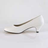 Vegan 6 cm FEFE-01 pumps voor mannen en drag queens in wit