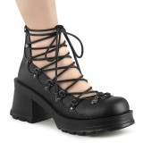 Vegan 7 cm BRATTY-32 demonia alternatief schoenen met plateau zwart