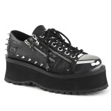 Vegan 7 cm GRAVEDIGGER-04 Platform Mens Gothic Shoes