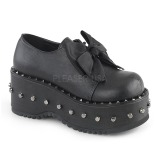 Vegan 8 cm Demonia DOLLY-05 lolita schoenen met plateau