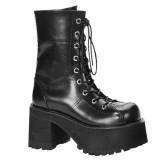 Vegan 9,5 cm RANGER-301 demonia alternatief boots met plateau zwart