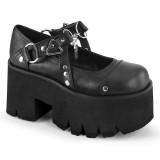 Vegan 9 cm ASHES-33 demonia alternatief schoenen met plateau zwart