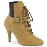 Vegan bruin 10 cm DREAM-1022 Mannen ankle boots high heels