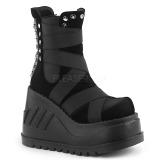 Velvet 12 cm Demonia STOMP-25 gothic platform ankle boots