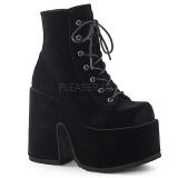 Velvet 13 cm DEMONIA CAMEL-203 goth ankle boots