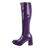 Violet Lak 8,5 cm GOGO-300 Dameslaarzen met hak voor Heren
