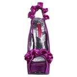 Violet Satijn 14,5 cm Burlesque TEEZE-56 Plateau Sandalen met Hoge Hak