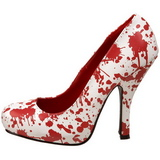 White 13 cm BLOODY-12 Womens Shoes with High Heels