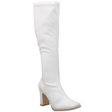 White Matt 9,5 cm FUNTASMA KIKI-350 Women Knee Boots
