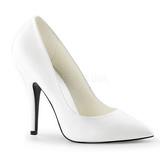 White Matte 13 cm SEDUCE-420 Pumps High Heels for Men
