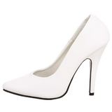 White Matte 13 cm SEDUCE-420 pointed toe pumps high heels