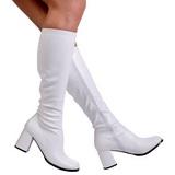 White Matte 8,5 cm GOGO-300 High Heeled Womens Boots for Men