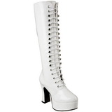 White Patent 10,5 cm EXOTICA-2020 High Heeled Lace Up Boots