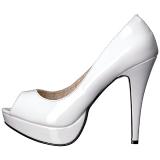 White Patent 13,5 cm CHLOE-01 big size pumps shoes