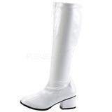 White Patent 5 cm RETRO-300 High Heeled Women Boots