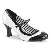 White Patent 7,5 cm JENNA-06 big size pumps shoes