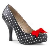 White Points 11,5 cm PINUP-05 big size pumps shoes