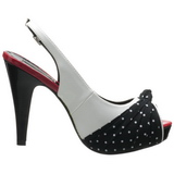White Points 12 cm retro vintage BETTIE-09 Platform Pumps Peep Toe