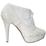 White Satin 13 cm LOLITA-32 High Heeled Evening Pumps Shoes